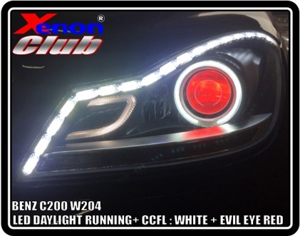 CCFL+ DAYLIGHT + RED EVIL EYE : BENZ W204